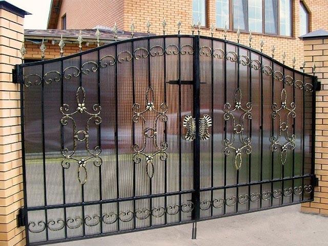 Кованые ворота в Гомеле